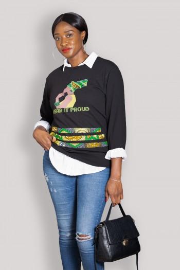 African print Sweatshirt Daha