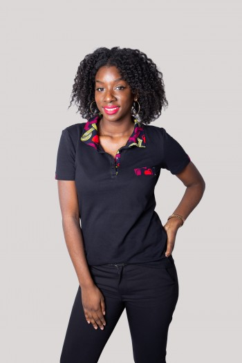African print polo Arwa