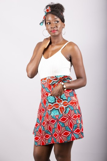 African print wrap skirt Lombe