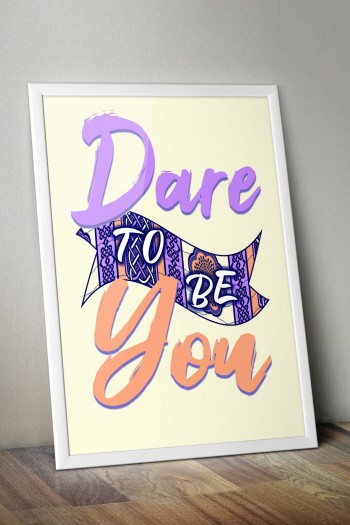 African print Dare poster