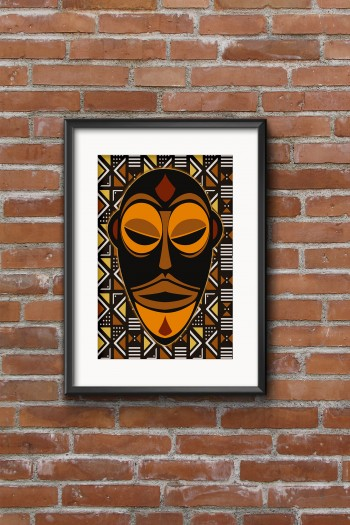 African mask wetu poster