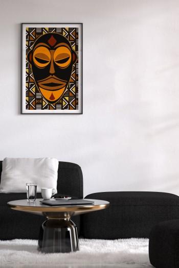 affiche masque africain wetu
