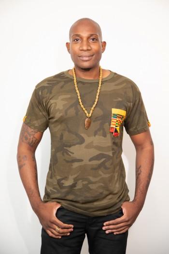 T-shirt Camo Wax Kente Zak