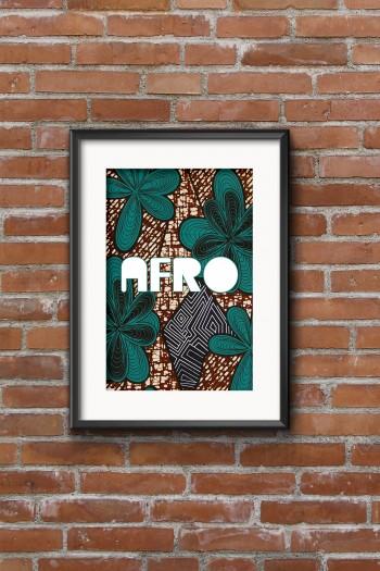 Affiche Wax Afro