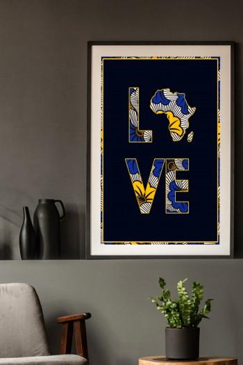 Affiche Wax Afro Lova