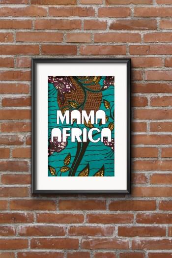 Affiche Wax Mama Africa