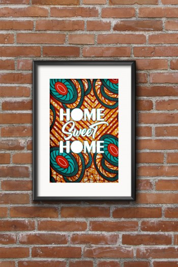 African print Sweet Home...