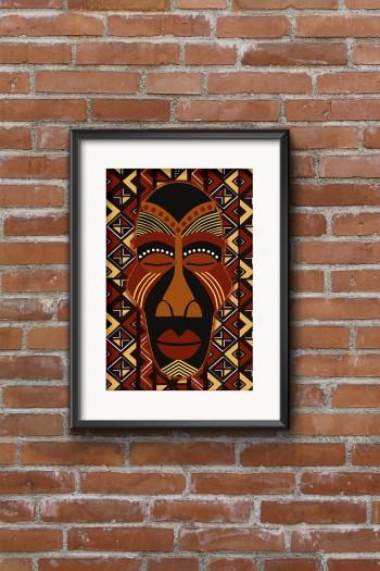 affiche masque africain eyoma