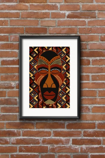 African mask eyoma poster