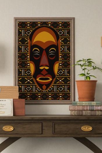African mask Zanga poster