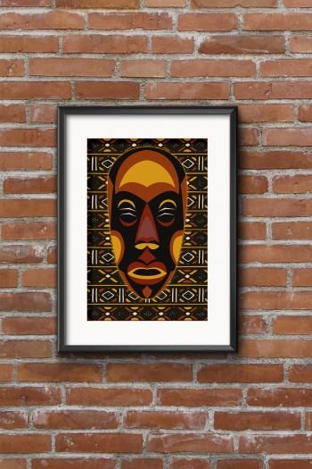 affiche masque africain Zanga