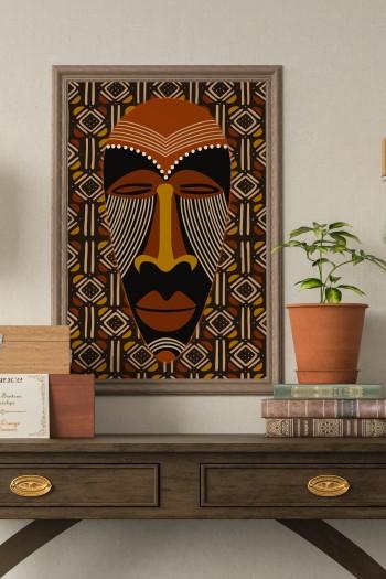 affiche masque africain zinga