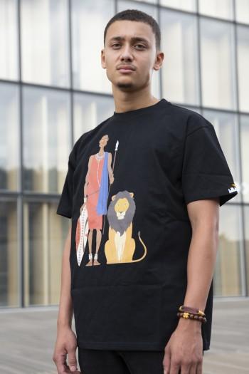 T-shirt oversize Guerrier...