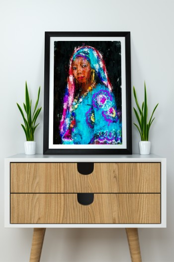 Afro poster abstract art...