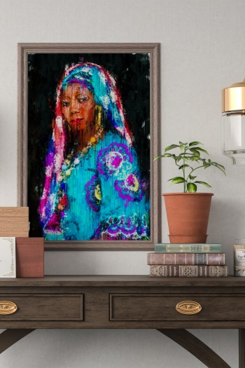 affiche afro art abstrait...