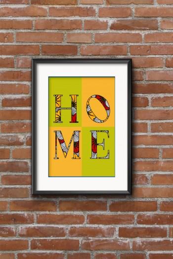 Affiche Wax Home