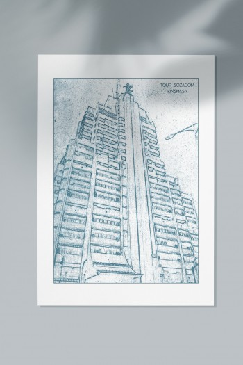 Kinshasa Landmarks poster