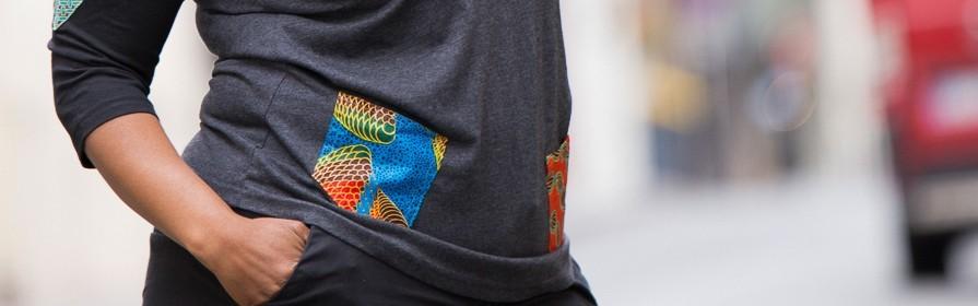 Mode africaine pour Femme en ligne | Polo Wax, Pull imprimé en Wax , T-shirt fashion Bogolan - Tendiwax