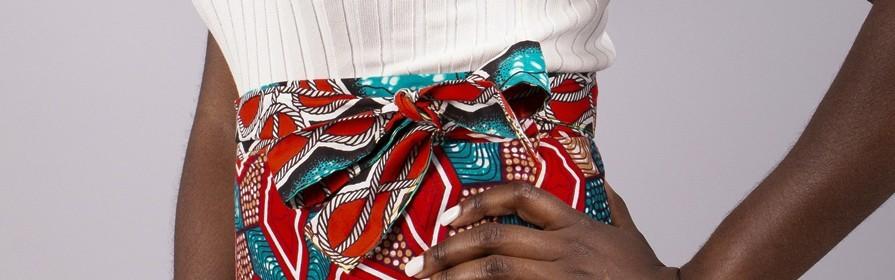 African print skirts | Bogolan straight skirt ,Bogolan Flared Skirt Dress, African print wrap skirt, African dress  - Tendiwax