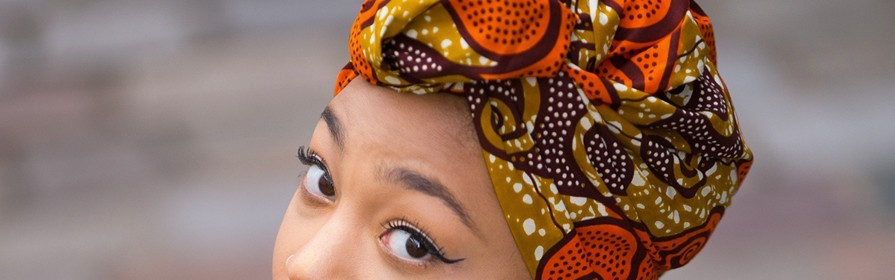 Turbans et foulards africains | Accessoires nappy Wax , Bogolan , Kenté, Madras - Tendiwax