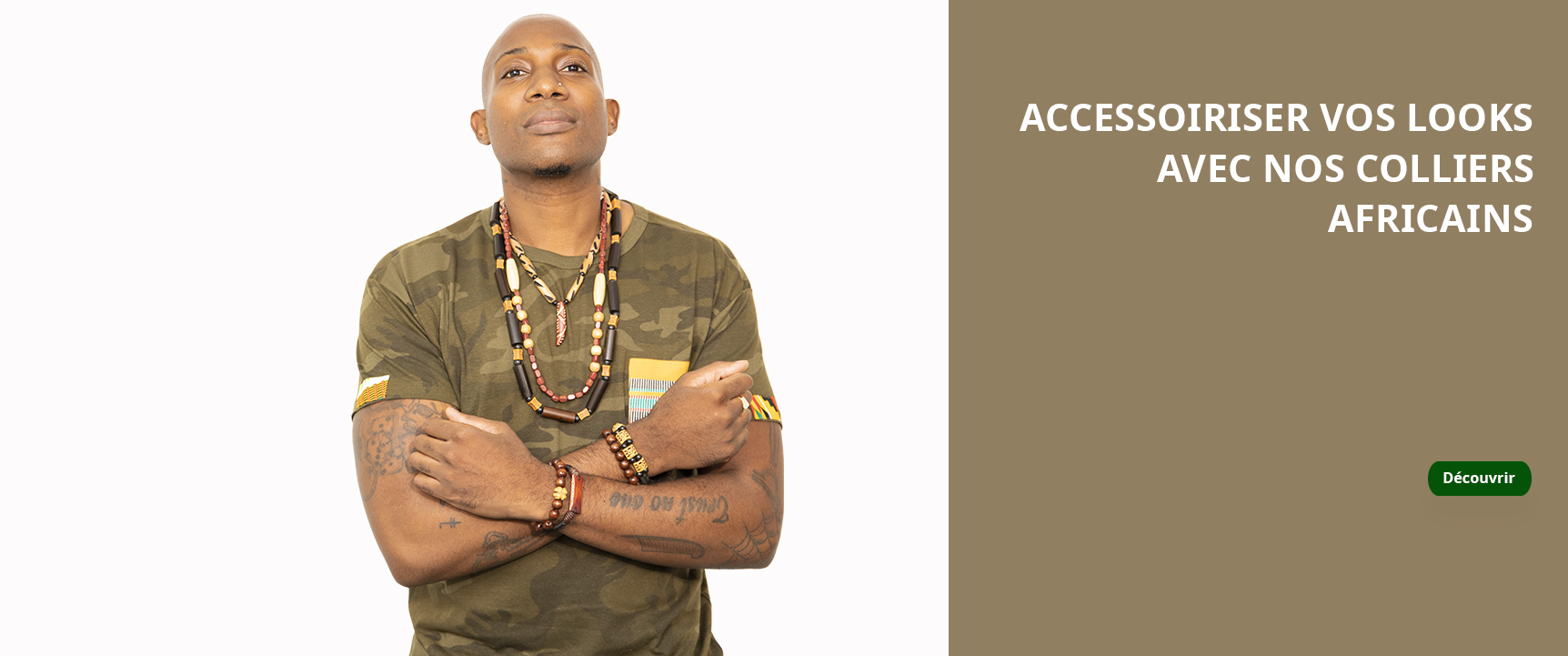 Accessoriser vos looks avec nos colliers africains