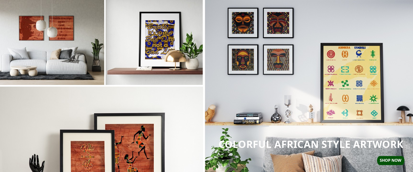 Colorful African style artwork